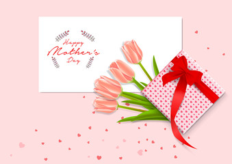 Happy mother's day images vector. Mothers Day greeting card. Happy Mothers Day design in trendy style. Mothers Day typography with flower.