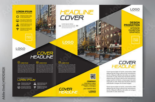 brochure 3 fold flyer design a4 template stock image and royalty
