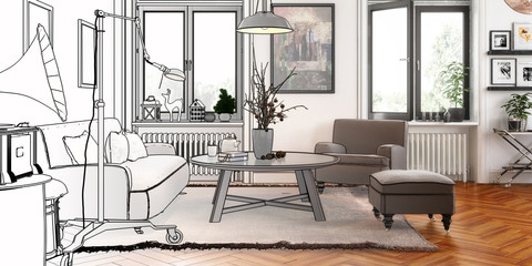 Modern Retro Style Project (panoramic)