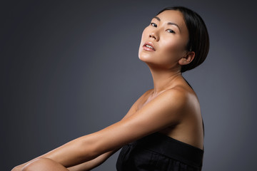 Portrait of beautiful asian model