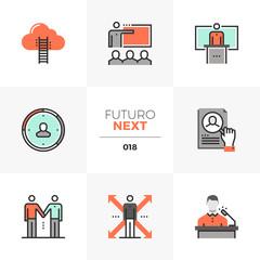 Business Training Futuro Next Icons