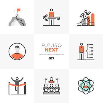Business Leadership Futuro Next Icons