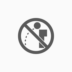 no spitting sign icon