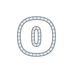 O Film Strip Letter Logo Icon Design