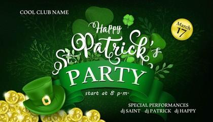 Happy Saint Patrick's Day Party Vector Illustration
