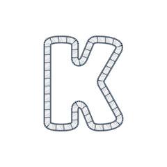 K Film Strip Letter Logo Icon Design
