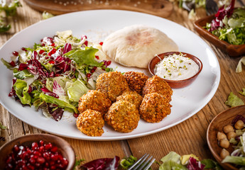 Traditional falafel patties