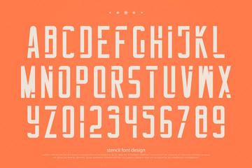 Procurar fotos estncil stencil alphabet letters and numbers vector geometric font type regular typeface design stopboris Image collections
