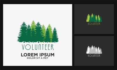 pine tree volunteer logo