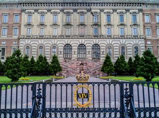 Stockholm Palace or The Royal Palace (Stockholms slott or Kungliga slottet). Sweden