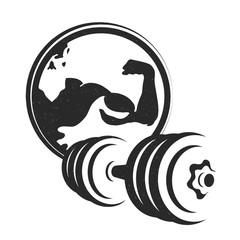 Dumbbell symbol for the gym silhouette