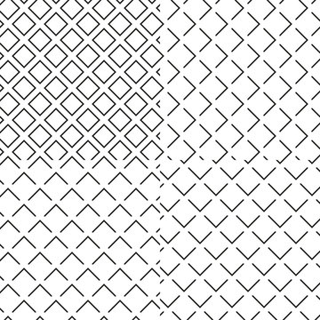 Black and white seamless wafer waffle texture set