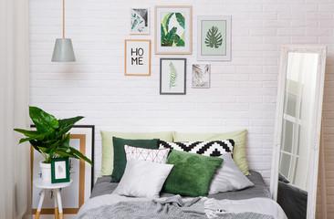 bedroom interior house bed style scandinavian horizontal