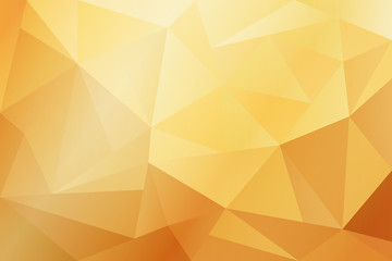 Abstract yellow and gold geometric background with lighting.