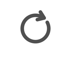 Refresh simple icon. Rotation arrow sign. Reset or Reload symbol. Quality design elements. Classic style. Vector