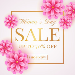 Women's Day sale banner.
