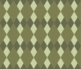 diamond-shaped olive green  texture pattern vector