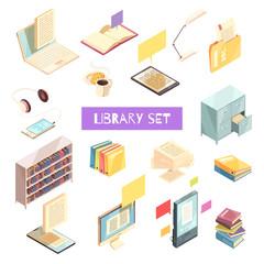 Library Isometric Set