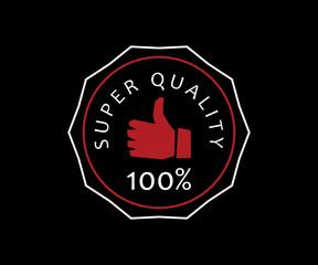 super quality retro badge logo design illustration