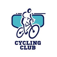 Bicycle logo template. Bike club logo