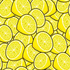 Seamless fruit pattern: lemons.