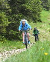 Spaß beim Mountainbiken