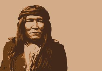Cochise - chef indien - portrait - personnage célèbre - Amérique - guerrier - Apache