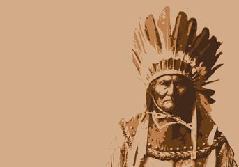 Geronimo - chef indien - portrait - personnage célèbre - Amérique - guerrier - Apache