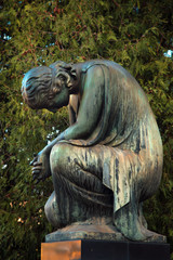 The figure of an angel who cries. Symbol of sorrow, love, invisible forces, purity, enlightenment, ministry. Guardian.