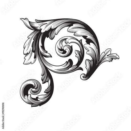 """Vector baroque ornament in victorian style"" Stock image ... Барокко Орнамент"