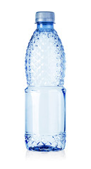plastic bottle of water isolated
