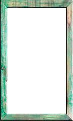 cadre vert biseauté, fond blanc