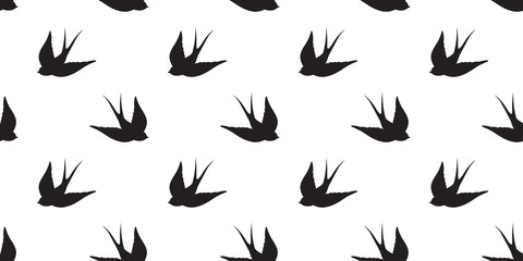 bird Seagull Seamless Pattern vector pigeon isolated wallpaper background
