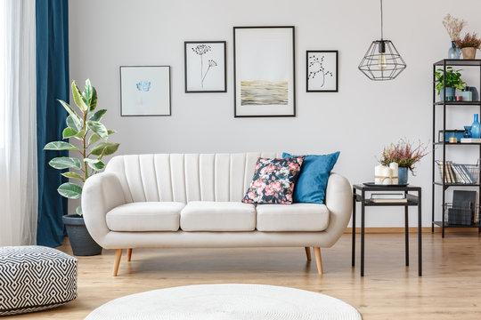 Sofa in living room interior