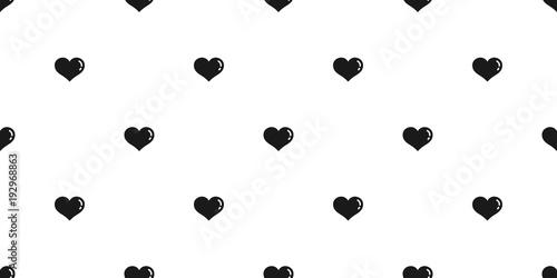 Heart Seamless Pattern Vector Valentine Isolated Cartoon Doodle