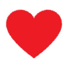Red Hand Drawn Grunge Heart logo. Vector illustration.