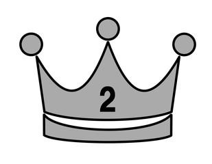 王冠(銀、線、2)