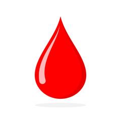 Red blood drop. Vector illustration.