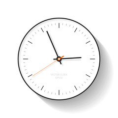Simple Clock icon in flat style, minimalistic timer on white background. Business watch. Vector design element for you project