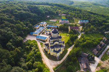 Monastery Building in Forest