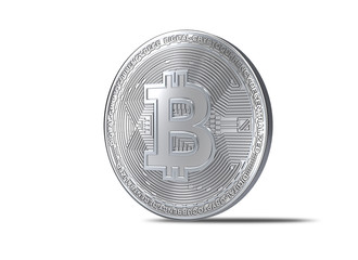 3d rendering of  Bitcoin with clipping path.