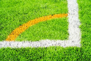 Green grass texture in soccer Field