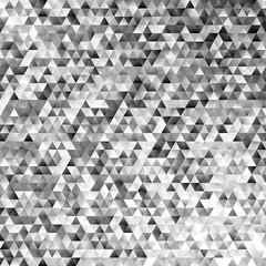 Abstract monochrome regular triangle tile mosaic background - modern gradient polygon vector graphic design