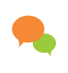 Vector of abstract simple speech bubble