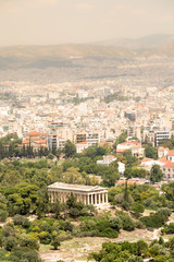 View of the Temple of Hephaestus from the Acropolis , Athens, Greece