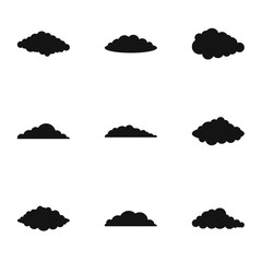 Swarm icons set. Simple set of 9 swarm vector icons for web isolated on white background