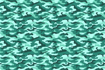 Turquoise camouflage texture. Vector