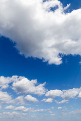 Blue sky with white clouds natural background