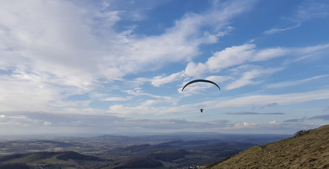 Hang glider on the Malvern Hills Worcestershire UK