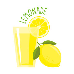 Lemon vector illustration isolated